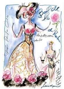 09-Dessins de Karl Lagerfeld pour le Bal de la Rose du Rocher - Copyright Obligatoire 2