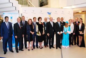 Le prince ALbert II reçoit les personnaliéts venues de nombreux pays