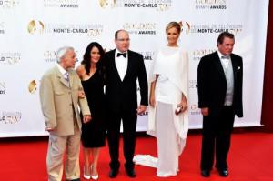 Robert Conrad, Robin Tunney, Prince Albert II, Adriana Karembeu et Tom Berenger